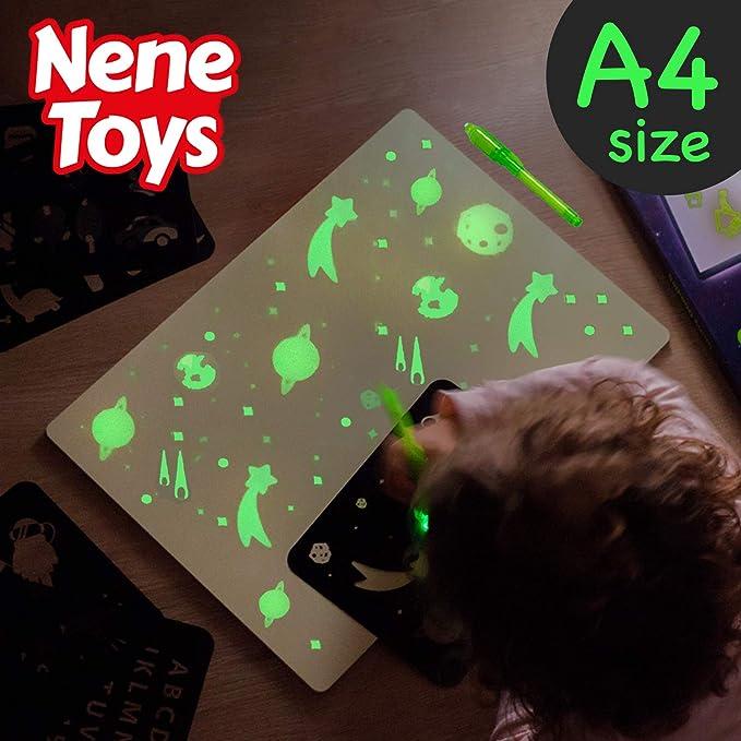 Nene Toys - Pizarra Mágica de Dibujo con Luz para Niños y Niñas de ...