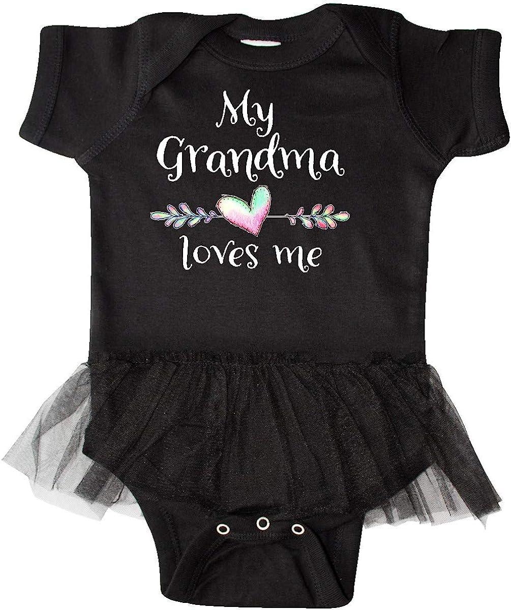 inktastic My Grandma Loves Me Heart Grandchild Infant Tutu Bodysuit