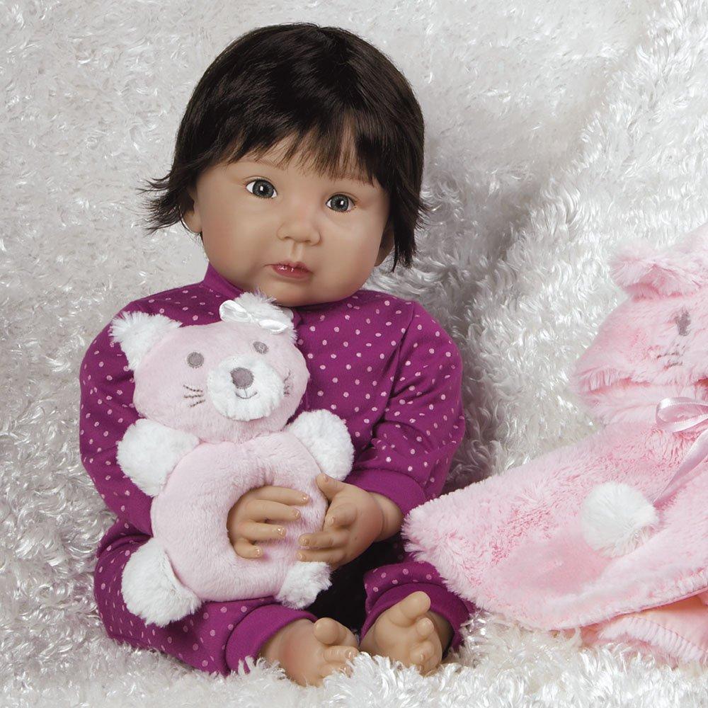 20 inch Ethnic Reborn Girl Smitten Kitten in GentleTouch Vinyl 4-Piece Set Paradise Galleries Realistic Asian Baby Doll