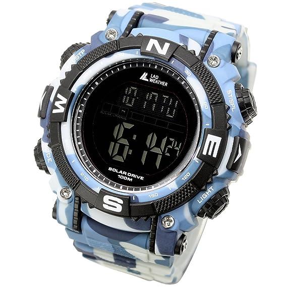 [Lad Weather] energía Solar Digital reloj Militar camuflaje impreso 100 metros resistente al agua: Amazon.es: Relojes