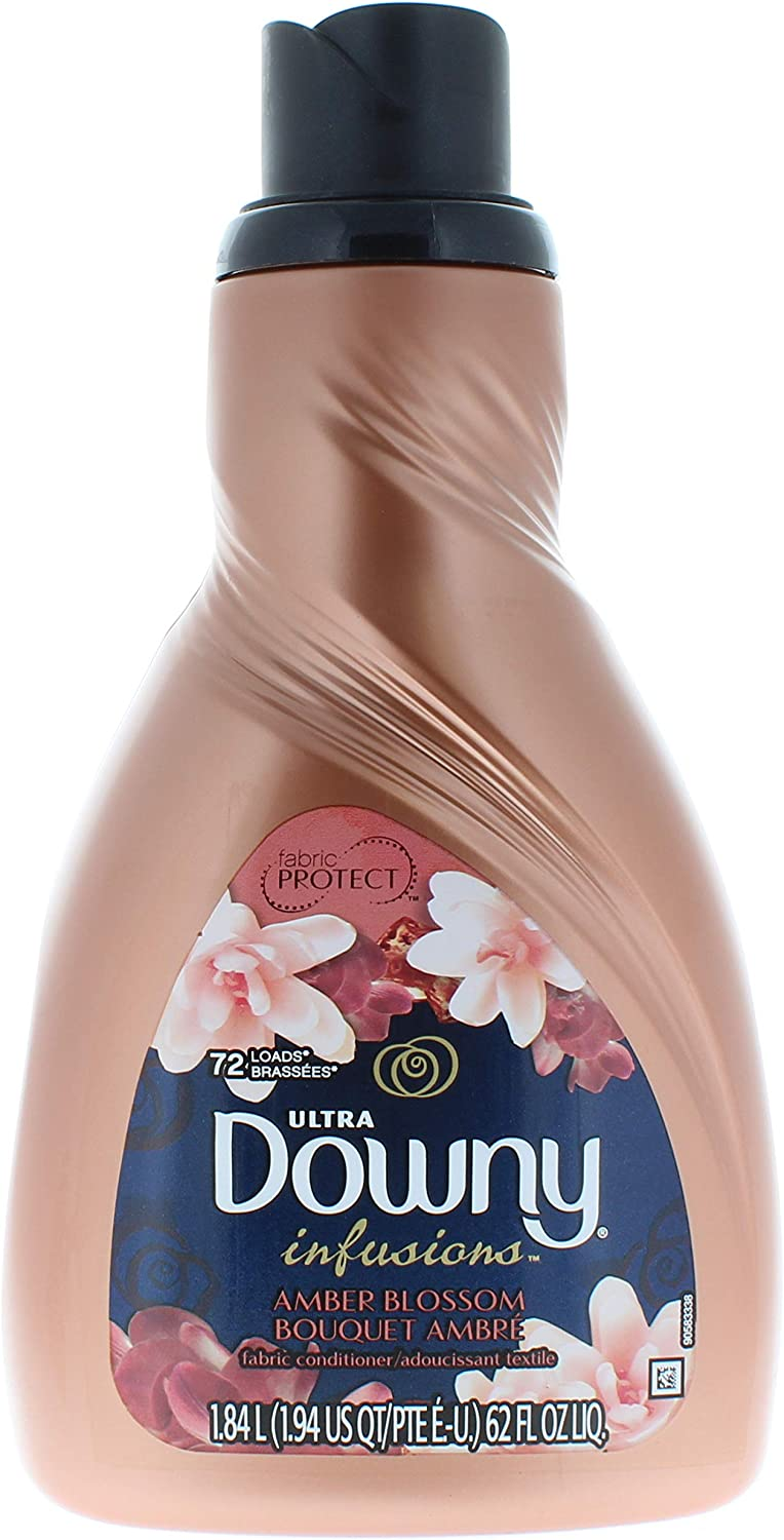 Downy Infusions Amber Blossom Liquid Fabric Softener and Conditioner 62 FL Oz (72 Loads Total)