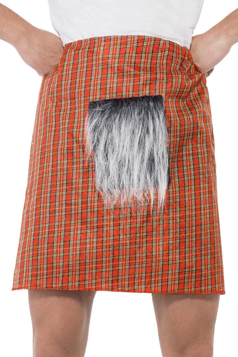 Smiffys Smiffys- Falda Escocesa, roja, con escarcela, Color Rojo ...