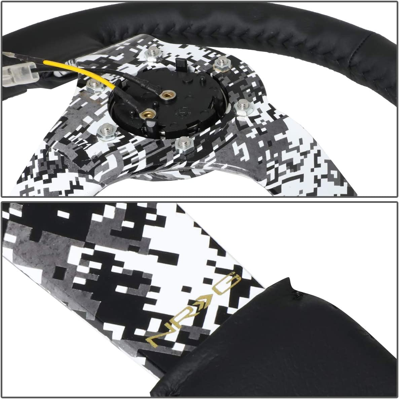 NRG Hydro Dipped Digital Camo Leather Steering Wheel RST-036DC-R USPL STICKER