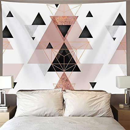 Amazon Com Homestores Geometric Triangles Rose Gold White Wall