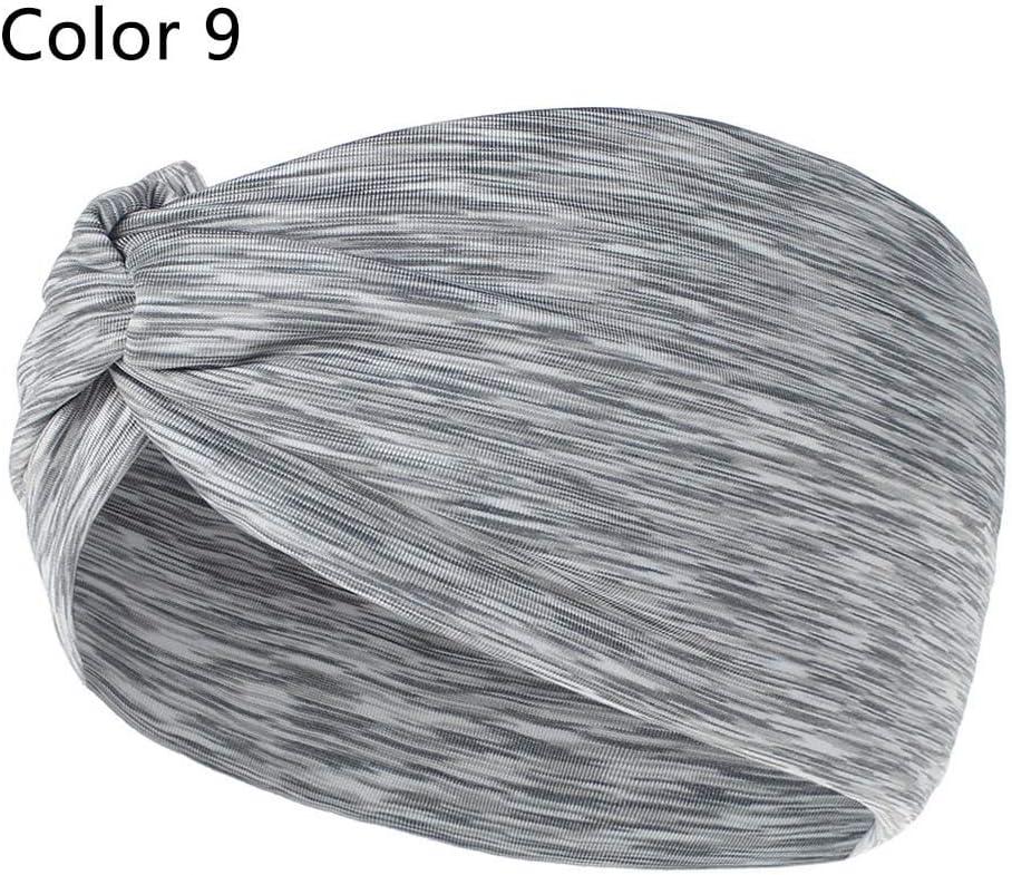 Vinchas de moda cruzadas para la cabeza elástica vendas para yoga, correr, deportes, para accesorios para el pelo de damas