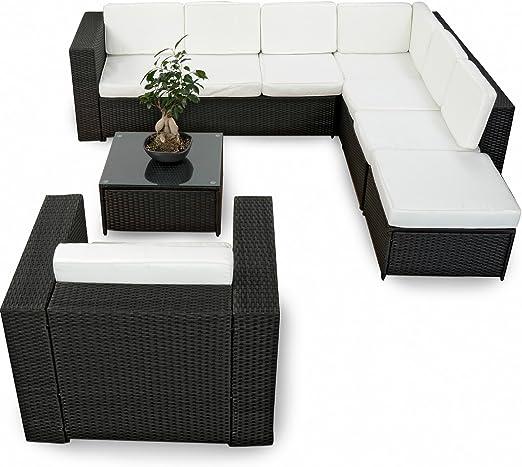 SSITG Polirratán Muebles de Jardín Asiento Grupo Muebles Lounge ...