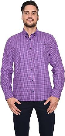 Paul Grant - Camisa casual - con botones - para hombre Navy Lila XXX-Large : Amazon.es: Ropa y accesorios