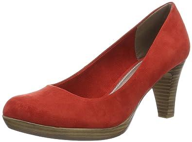 22411, Zapatos de Tacón para Mujer, Azul (Navy), 42 EU Marco Tozzi