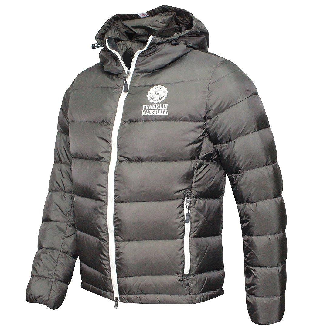 online retailer 0720f a01d6 Franklin & Marshall Nylon piumino con cappuccio nero giacca ...