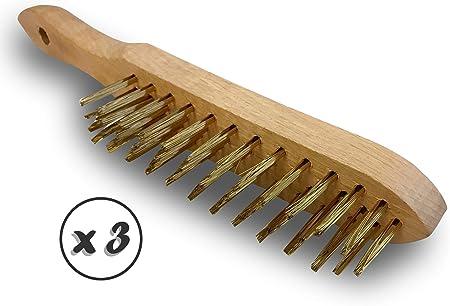 1 rang acier inox 0,30 Brossage et nettoyage de la rouille ou des soudures Kibros 8SPIVI Brosse /à main m/étallique convexe SKRIB