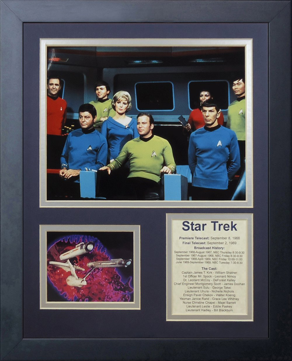 Legends Never Die Star Trek Bridge Crew Framed Photo Collage, 11 by 14-Inch 16005U