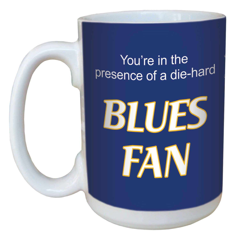 15-Ounce Tree-Free Greetings lm44194 Blues Hockey Fan Ceramic Mug with Full-Sized Handle
