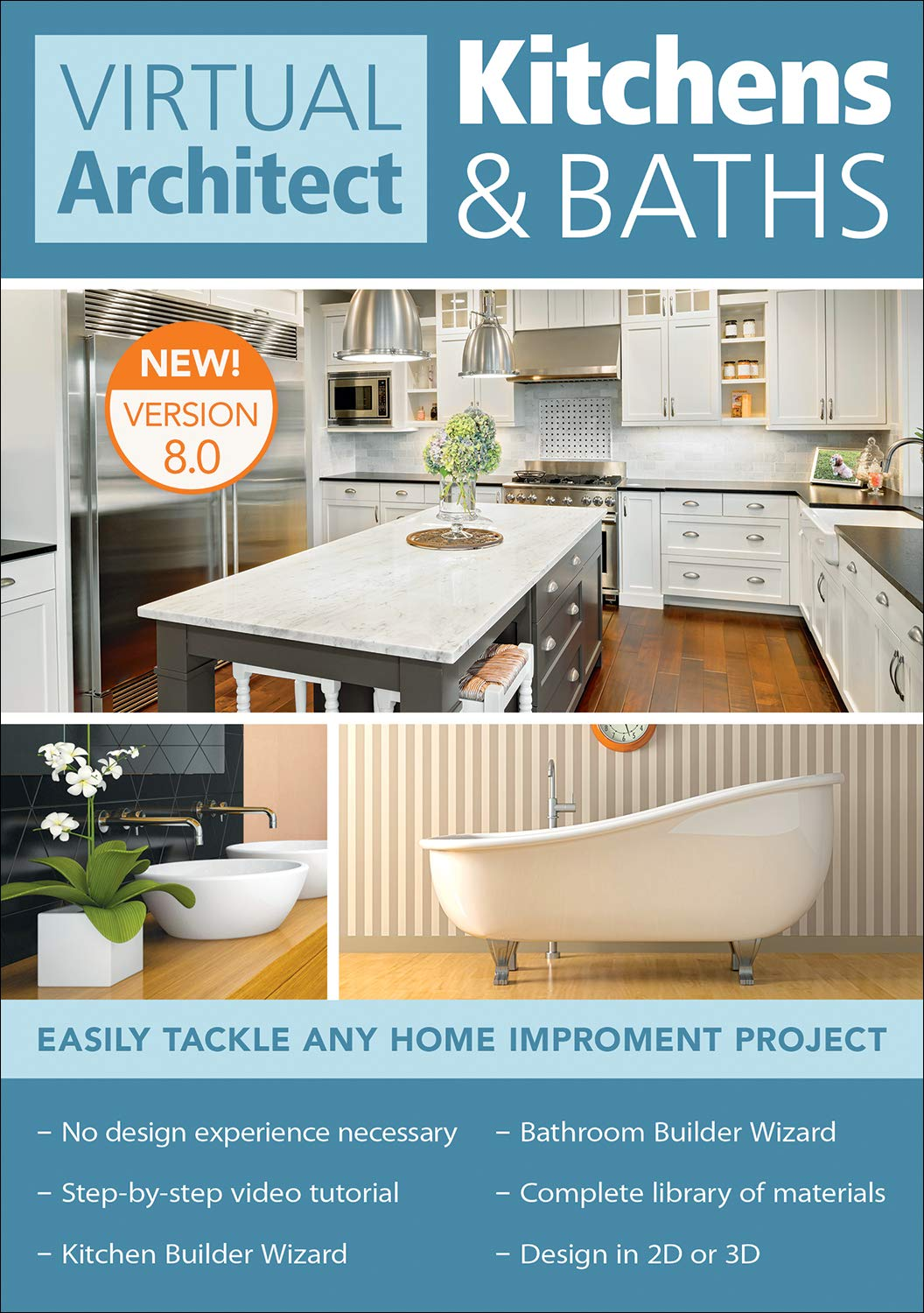Virtual Architect Kitchens & Baths 8.0 [PC Download] by Avanquest