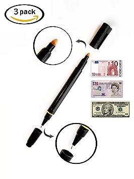 [Juego de 3] Juego de 3 bolígrafos 2en1 SetProducts ©: detectores de falsificación y bolígrafo | Euros | Dólares | Libras esterlinas: Amazon.es: Oficina y ...