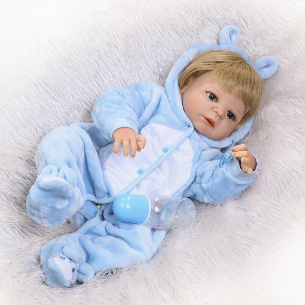 GHCX Nettes Babysimulationswiedergeburts-Puppensilikon Kann Das Das Das Wasserbegleiterspielzeugkind Kreatives Feriengeschenk 56CM Eintragen 22f8b5