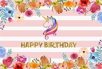 Amazon Com Csfoto 6x4ft Background For Unicorn Happy Birthday