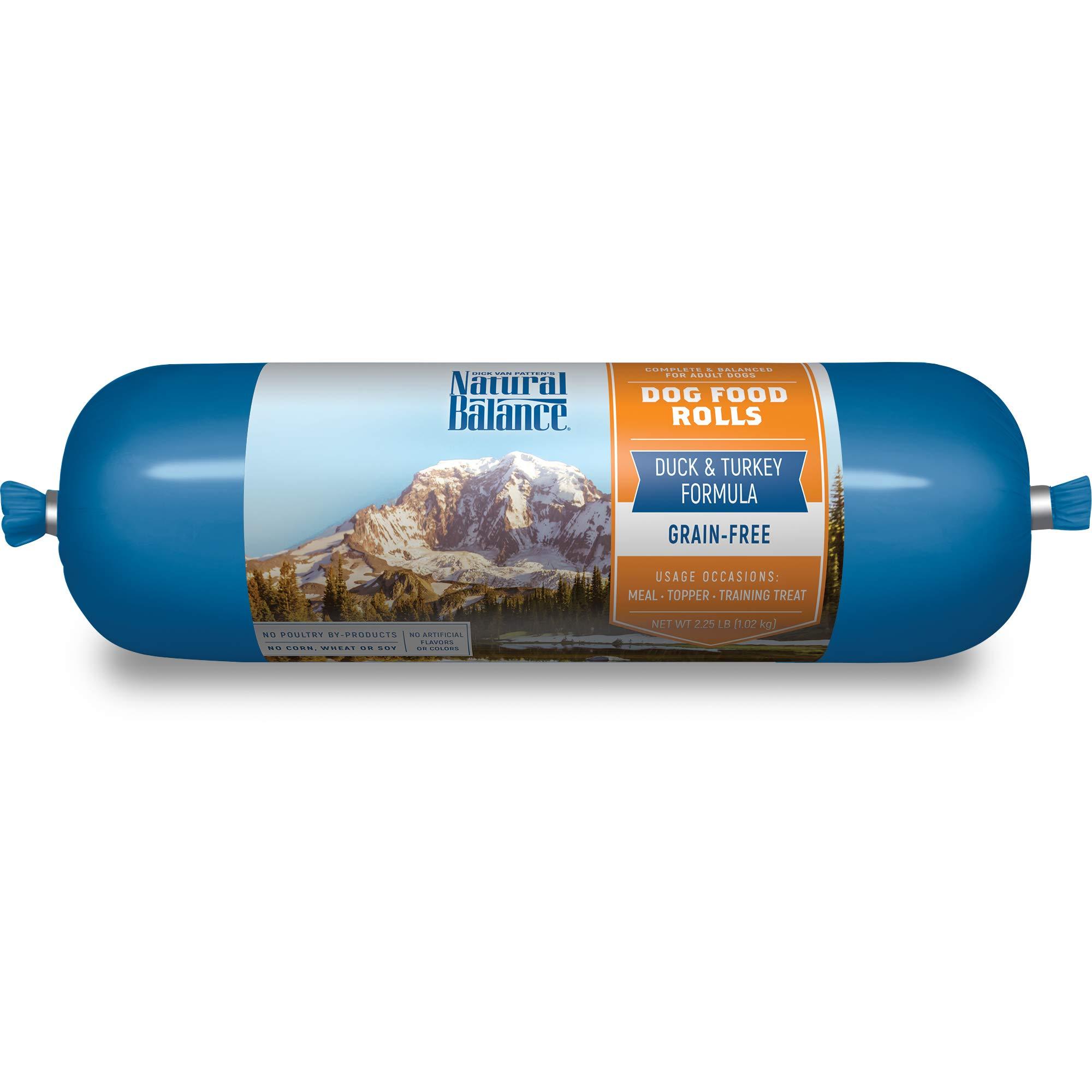 Natural Balance Dog Food Roll, Duck & Turkey Formula, 2.25-Pound by Natural Balance