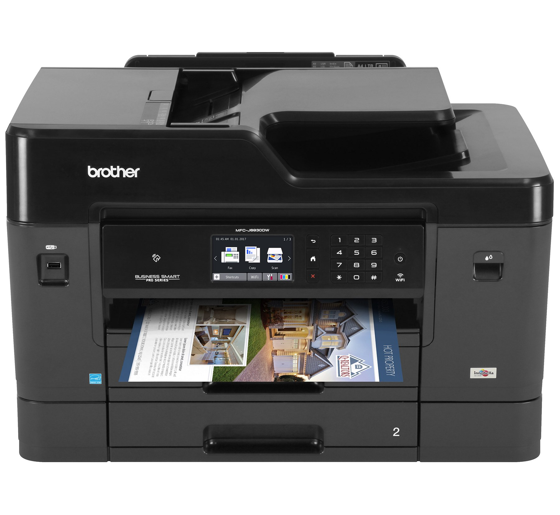 Brother Printer MFCJ6930DW Wireless Color Printer with Scanner, Copier & Fax, Amazon Dash Replenishment Enabled by Brother