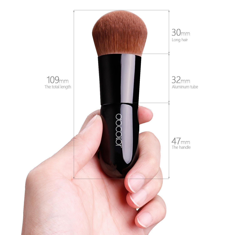Docolor 1Pcs Mineral foundation Kabuki Brush Black Belle Xixi