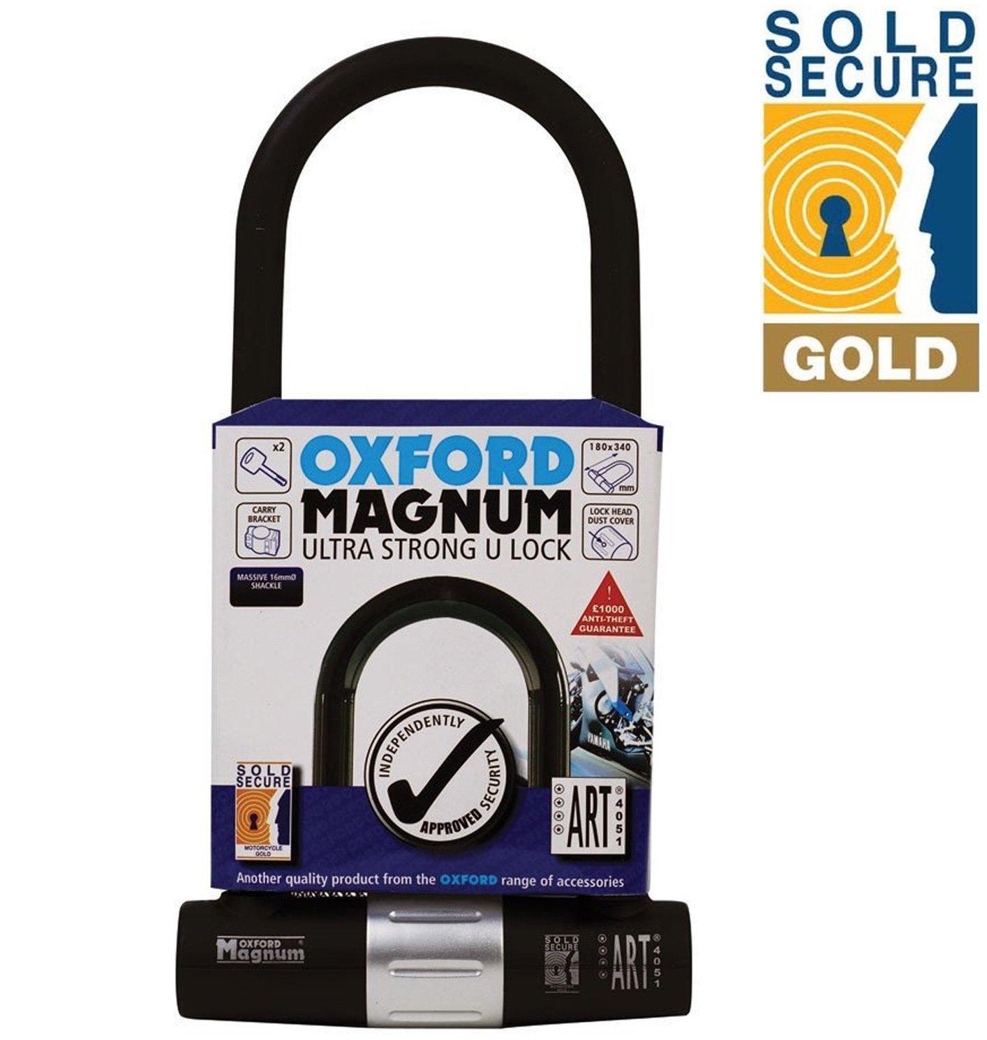 Oxford Magnum Ultra Strong Bike U Lock Sold Secure Gold Large