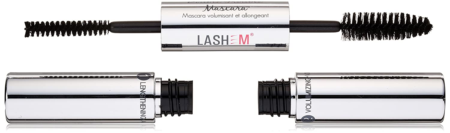 Amazon.com : Lashem Double Trouble Volumizing & Lengthening Mascara - (# Black) 4.2ml/0.14oz : Fiber Mascara : Beauty