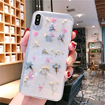 vraies fleurs coque iphone xs max
