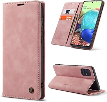 Asdsinfor Galaxy A71 Case Advanced Colorful Painted Wallet Case Credit Cards Slot with Stand for PU Leather Shockproof Flip Magnetic Case for Samsung Galaxy A71 White Magnolia TX-CH