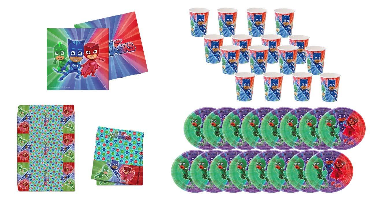 PJ Masks 0461, Pack Desechables Fiesta y Cumpleaños, 16 ...