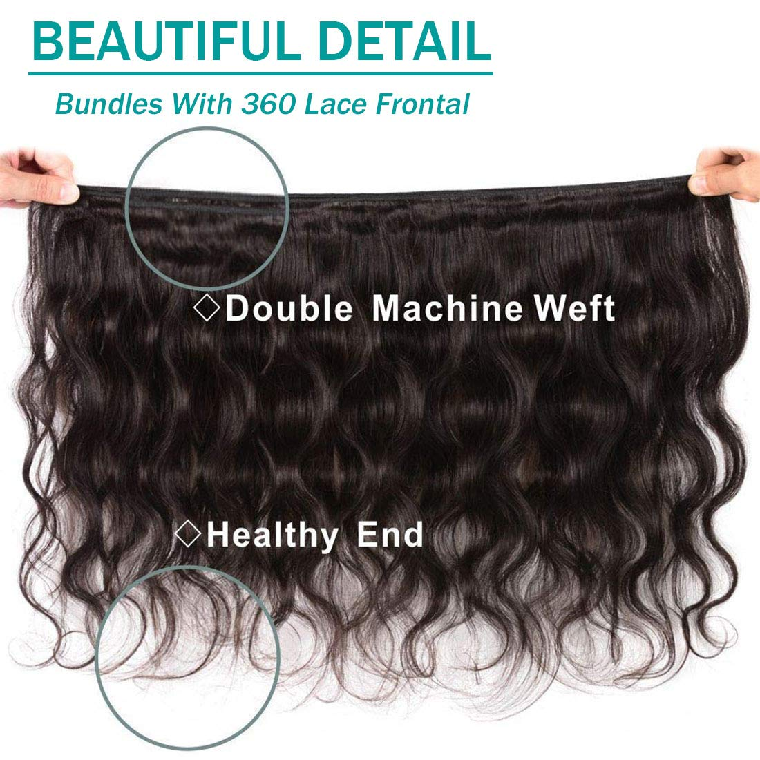 Hair Extensions & Wigs Ishow 360 Lace Frontal Closure With Bundles Malaysian Body Wave Human Hair 3 Bundles With Closure Non-remy Hair Extension Exquisite Craftsmanship; Human Hair Weaves