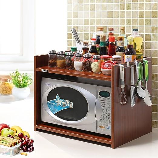 Cocina Almacenamiento Rack Spice Cooker Estante Soporte de piso Microondas Horno Multifunción (color : C, Tamaño : 54 * 40 * 45cm): Amazon.es: Hogar
