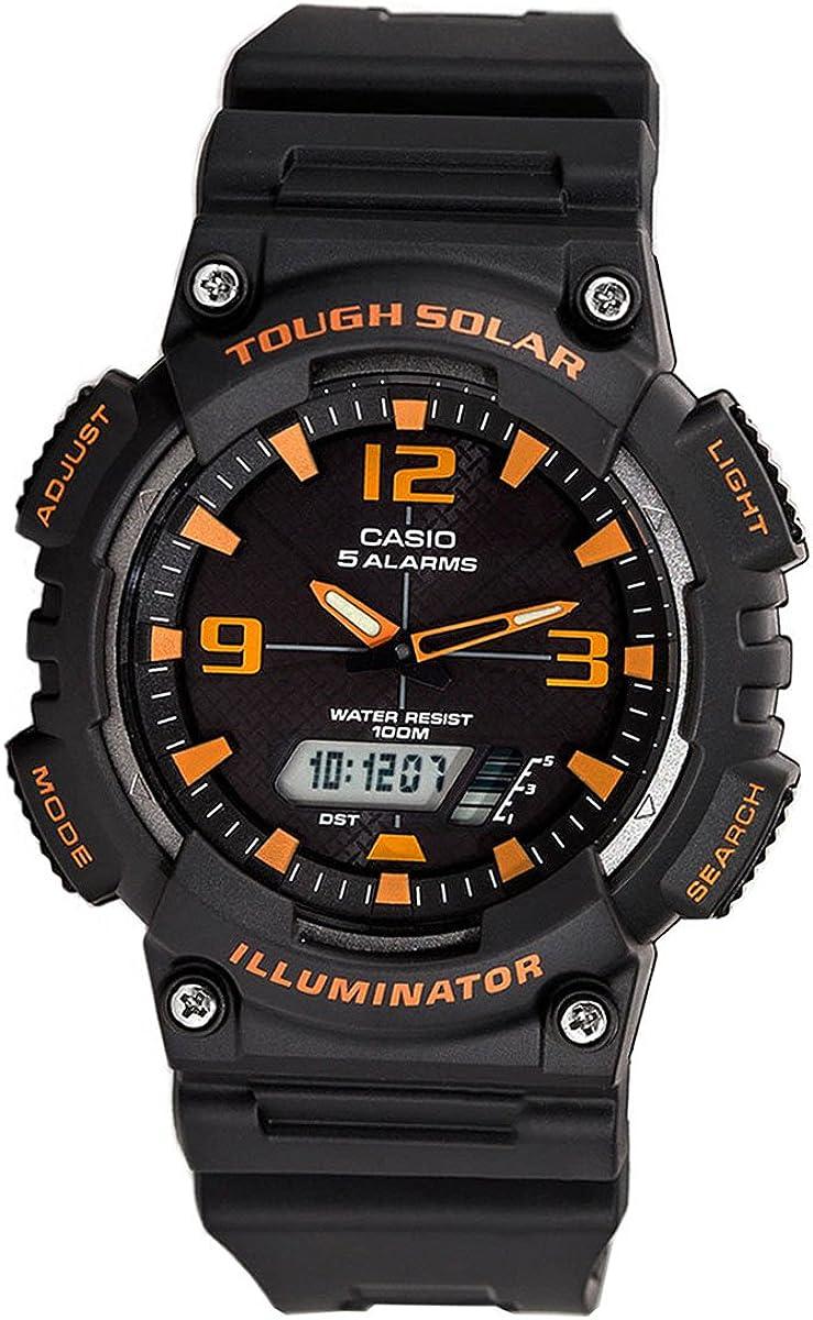 Casio Men s Sport AQS810W-8AV Grey Rubber Quartz Watch with Black Dial
