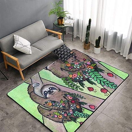 Bedroom Living Room Kitchen Extra Large Kitchen Rugs Home Decor - My Spirit  Animal Sloth Floor Mat Doormats Fast Dry Toilet Bath Rug Yoga Mat Throw ...