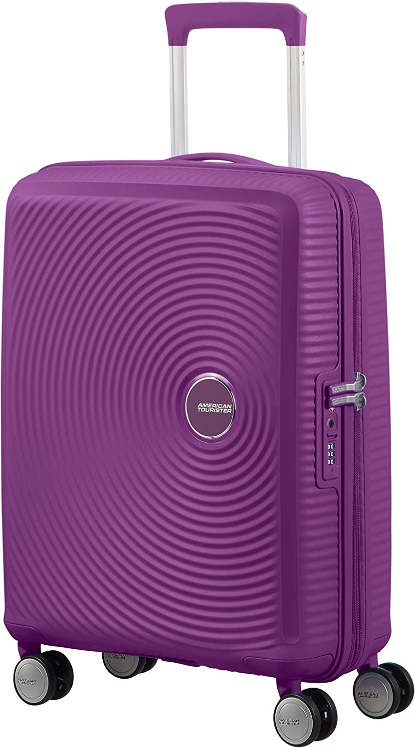 American Tourister Soundbox - Spinner Small Expandable Equipaje de Mano, 55 cm, 41 Liters, Morado (Purple Orchid)