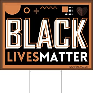 FULL SIZE Black Lives Matter Lawn Signs 18 by 24 with Stakes | BLM Yard Signs | Love is Love | Hate Has No Home Here signsofjustice Signs of Justice by Little FootPrint