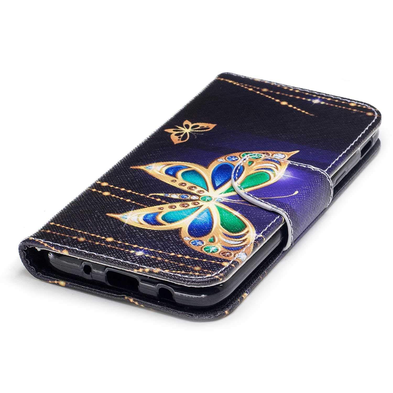 #1 Papillon Coque Galaxy J5 2017 Bear Village/® Motif Peint /Étui en Cuir avec Gratuit Protection D/écran en Verre Tremp/é Housse avec Fonction Stand pour Samsung Galaxy J5 2017