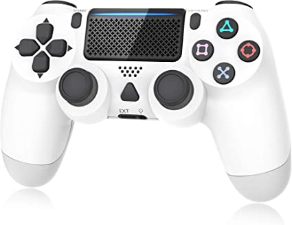 Amazon.com: Controller for Playstation 4, Y Team Controller for PS4/ Pro/Slim, Game Controller Joystick with Vibration Function, Headset Jack, 6-axis Gyro Sensor/1000mAh Battery(White): Computers & Accessories