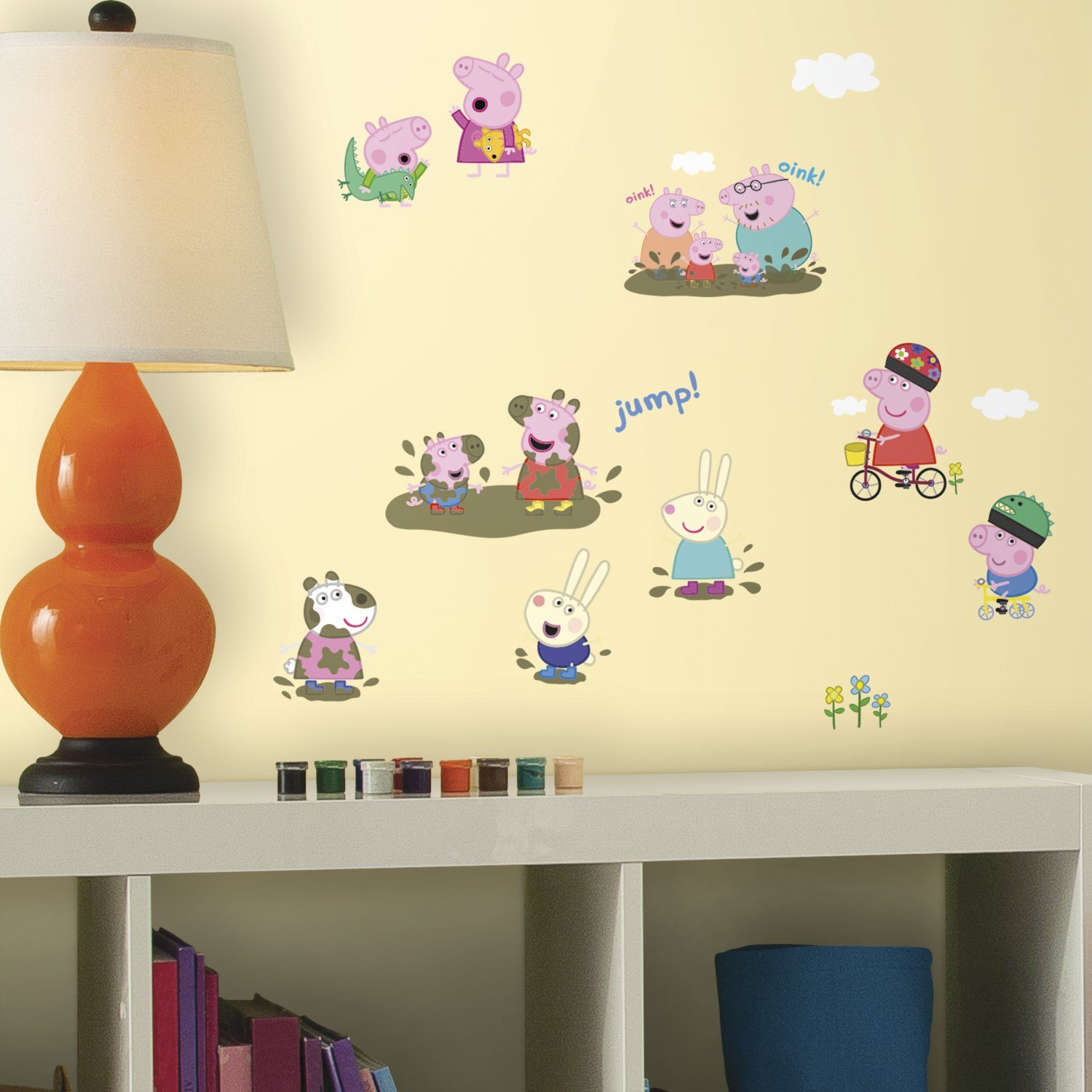 RoomMates RMK3183SCS Peppa the Pig Peel and Stick Wall Decals ...
