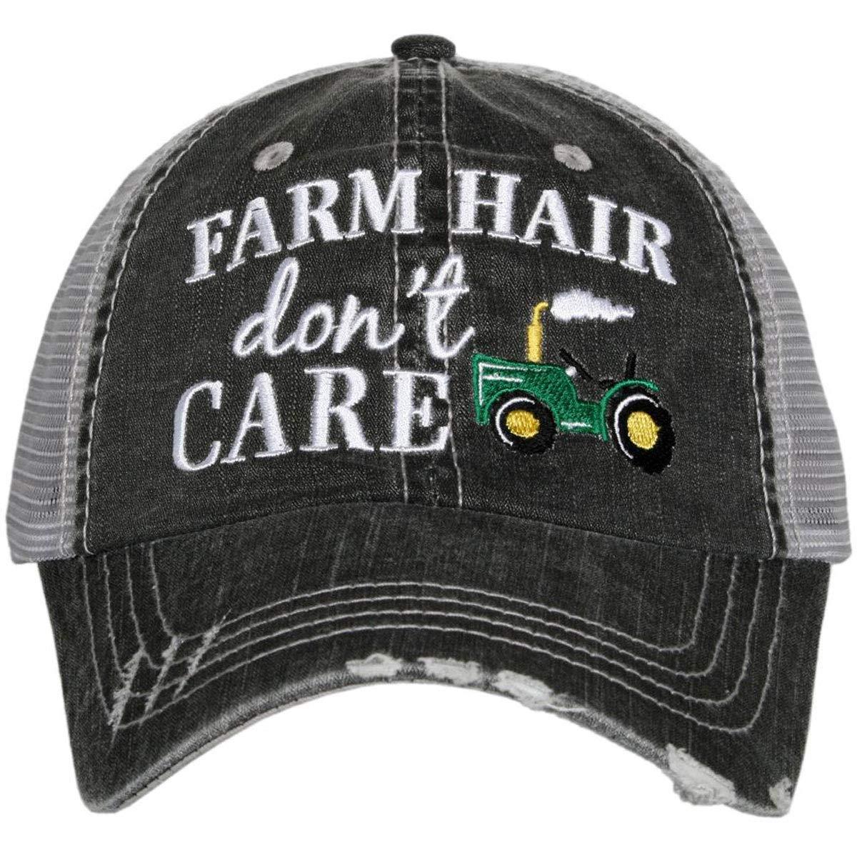 KATYDID Farm Hair Don't Care Women's Distressed Trucker Hat