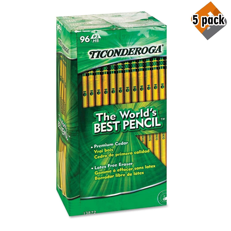 Dixon Ticonderoga ウッドケース鉛筆 5 Pack B07PPX41ZG  5 Pack