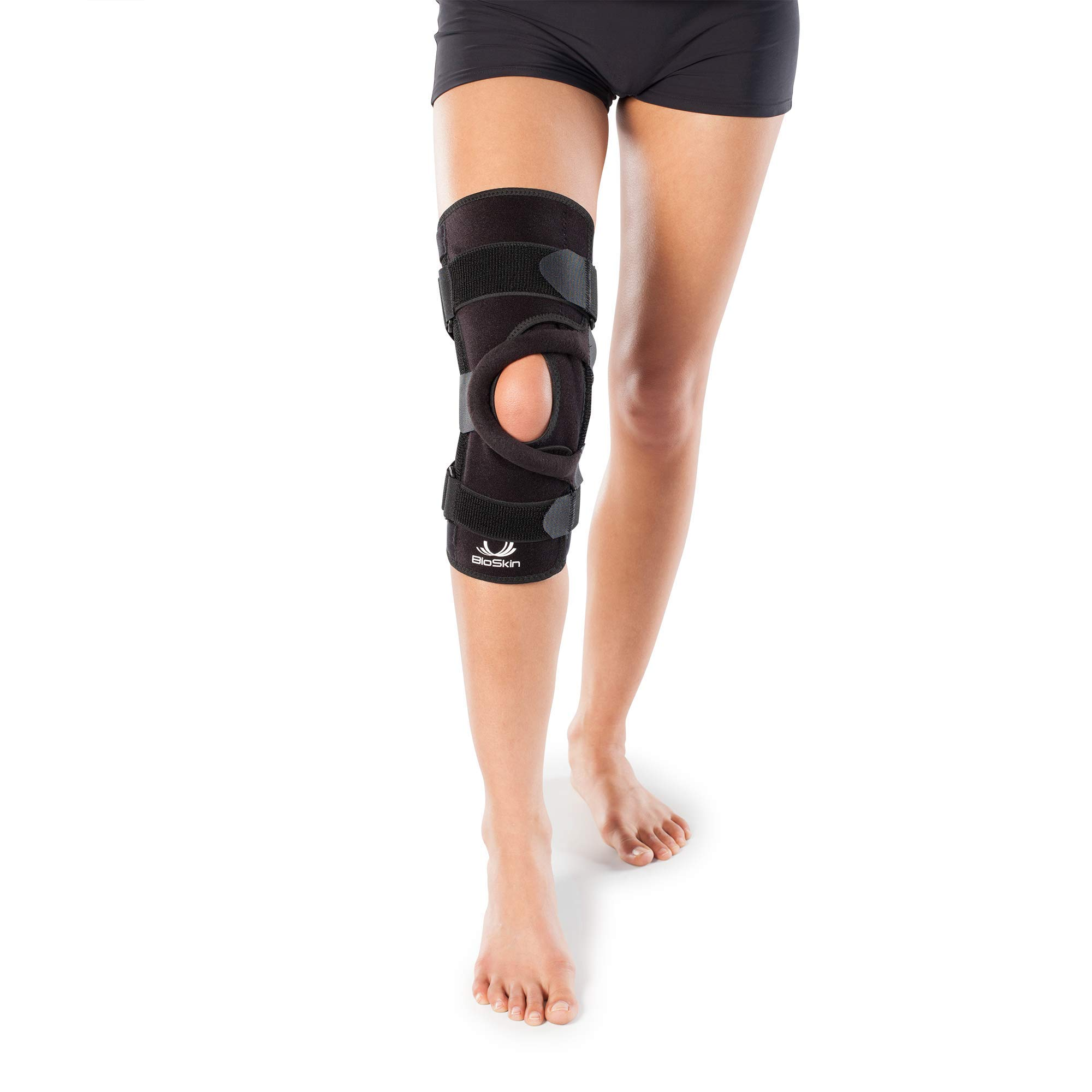 BIOSKIN Wrap Around Compression Supportive Knee Brace for Patellofemoral Pain and Patella Tracking Disorders - Q Brace (M) by BIOSKIN
