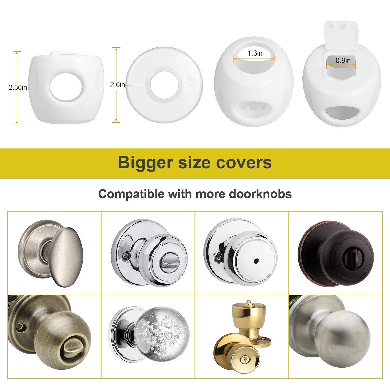 4-Pack Baby Safety Door Knob Covers DoorKnob Locks Child Children Kids Proof New