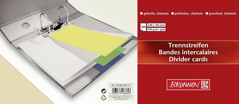 Baier /& Schneider Laser Printers Cardboard 190/g//m/² Cham Inkjet Printers Dividers 105/x 240/mm