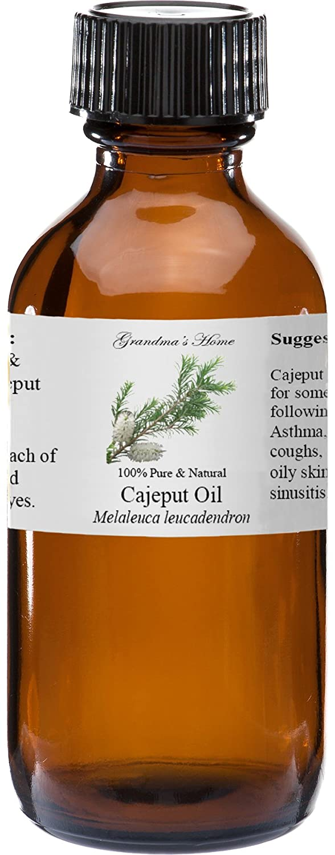Cajeput Essential Oil 4 oz 100% Pure and Natural Therapeutic Grade Grandma's Home