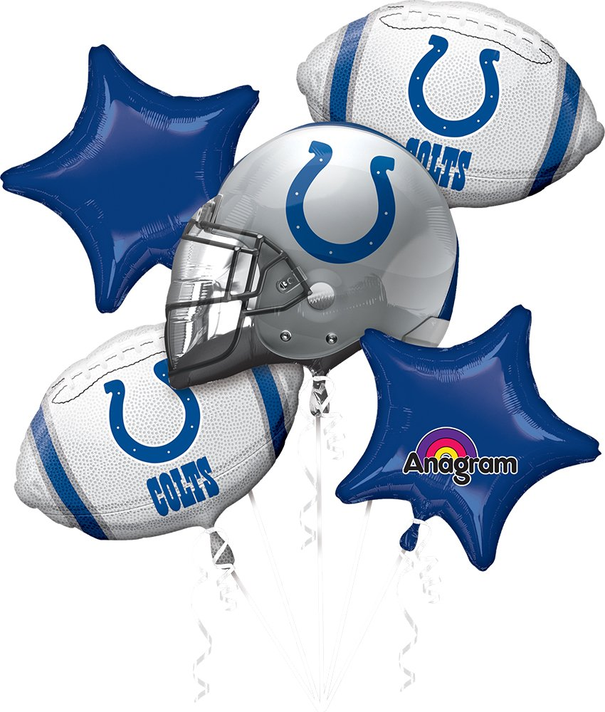 Anagram Bouquet Colts Foil Balloons, Multicolor by Anagram