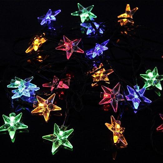 24 opinioni per OxyLED Y20 Striscia Luce Solare, 20 LED, Disegno di Stella, 100LM, Luce