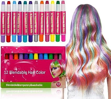 HAIR CHALK CABELLO 12 bolígrafos de colores que se lavan ...