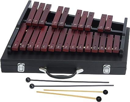 25 Nota Xil/ófono de Madera Percusi/ón Educativa Regalo del Instrumento Musical con 2 Mazos