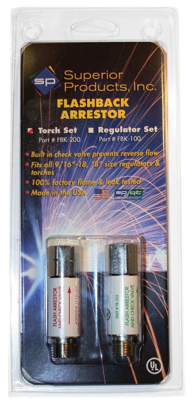 FLASHBACK ARRESTOR SET FOR TORCH MOUNT - OXY/FUEL FBK-200 Superior Products - - Amazon.com