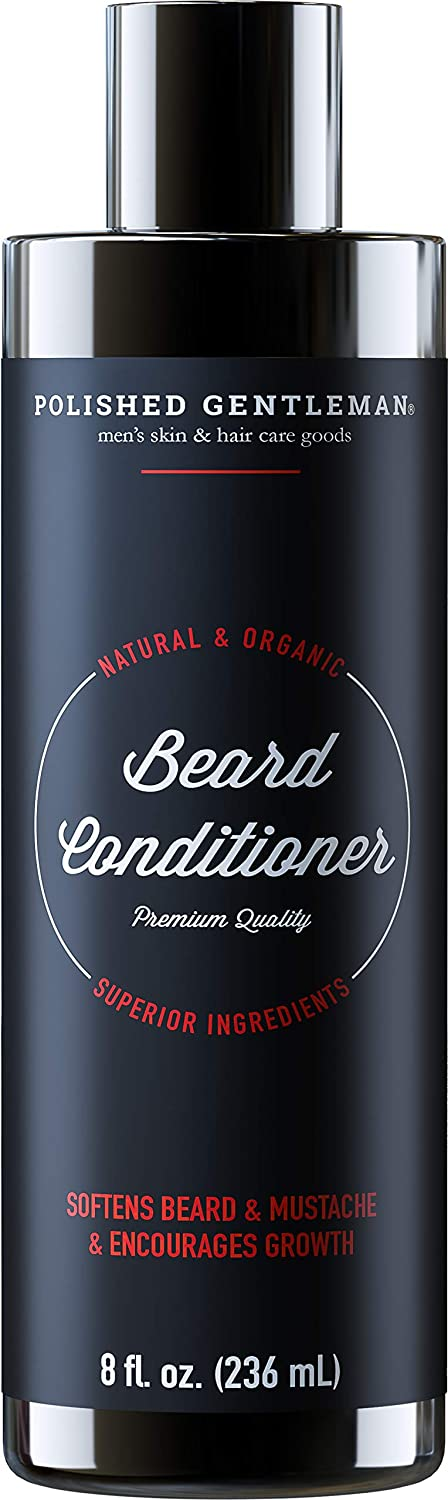 Beard Growth and Thickening Conditioner - with Organic Beard Oil - Beard Softener for Grooming - for Younger Looking Beard - for Facial Hair Growth - (8oz) - Made in USA