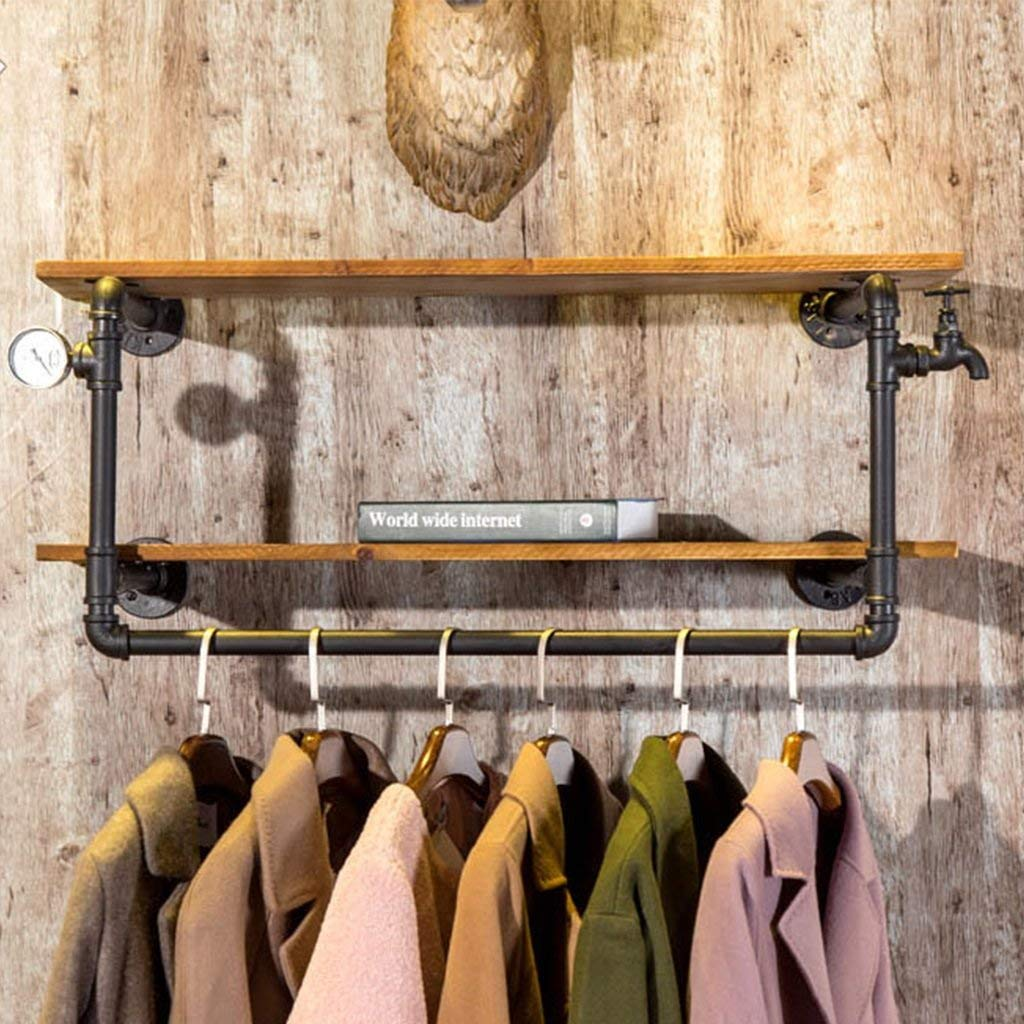 B GJD Coatrack Wall-Mounted Coat Rack Decorative Display Wall-Mounted Storage Rack Hatstand (Size   B)